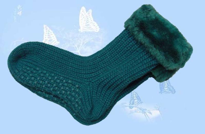 毛线编织大人的袜子