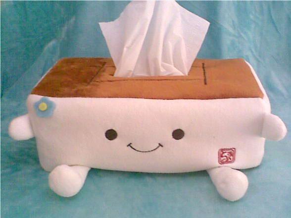 日本豆腐纸巾盒 各式卡通纸巾盒来图定做;; 深圳市灵龙礼品有限公司图片