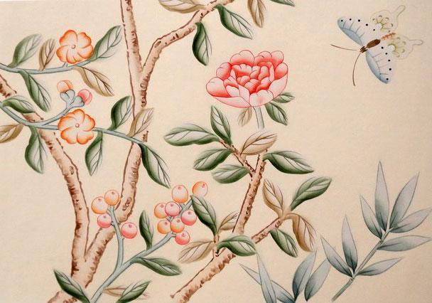 王室手绘墙纸