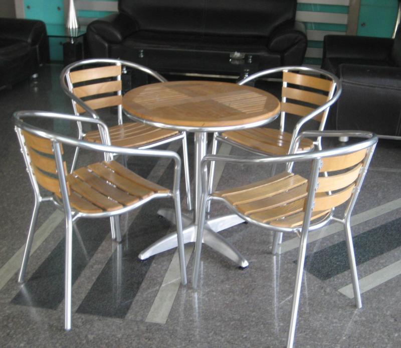 户外铝木休闲桌椅(ky-4a001)图片