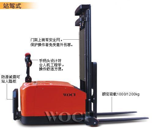 沃慈工业生产的平衡重式电动堆高车质量怎么样?