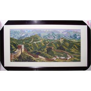 客厅十字绣万里长城 中国万里长城十字绣 万里长城全景图片高清图片