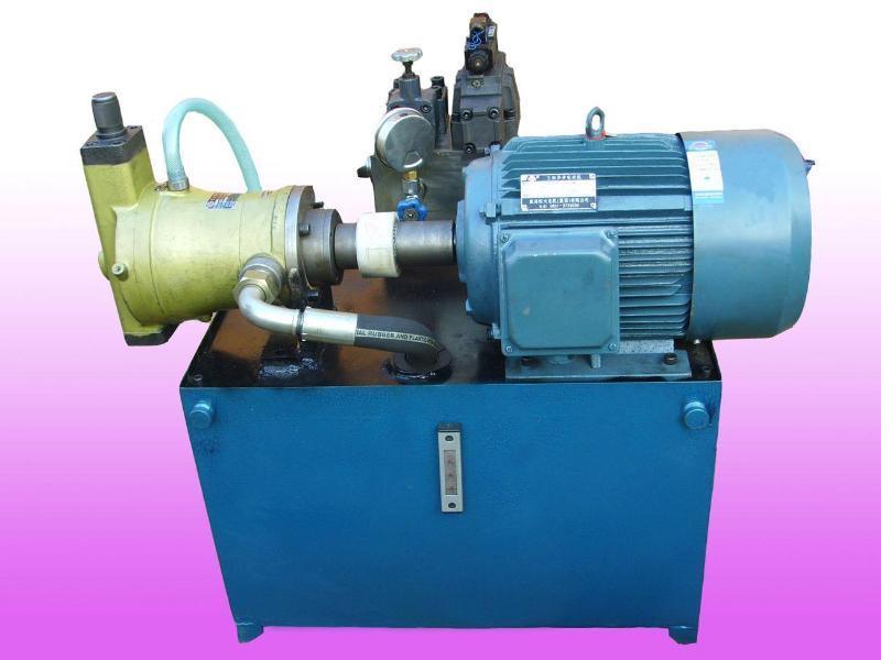 旁置式:液压站电机一泵装置卧式安装在油箱旁单独的基础上,旁置式可图片