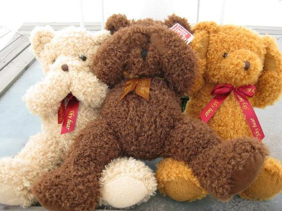 微笑绽放在心灵深处……          可爱的小熊,抱着这个小可爱入睡,很
