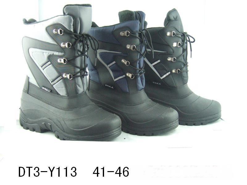 男士防水雪地靴