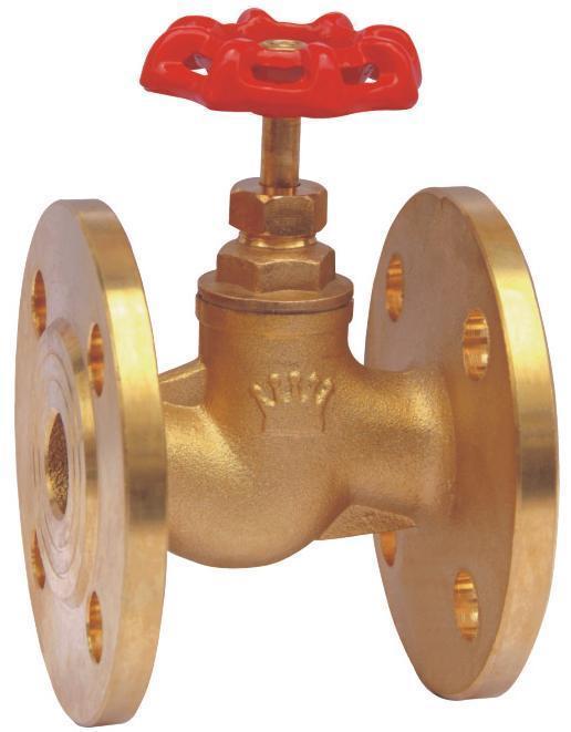 黄铜法兰截止阀(j41w-16t)图片