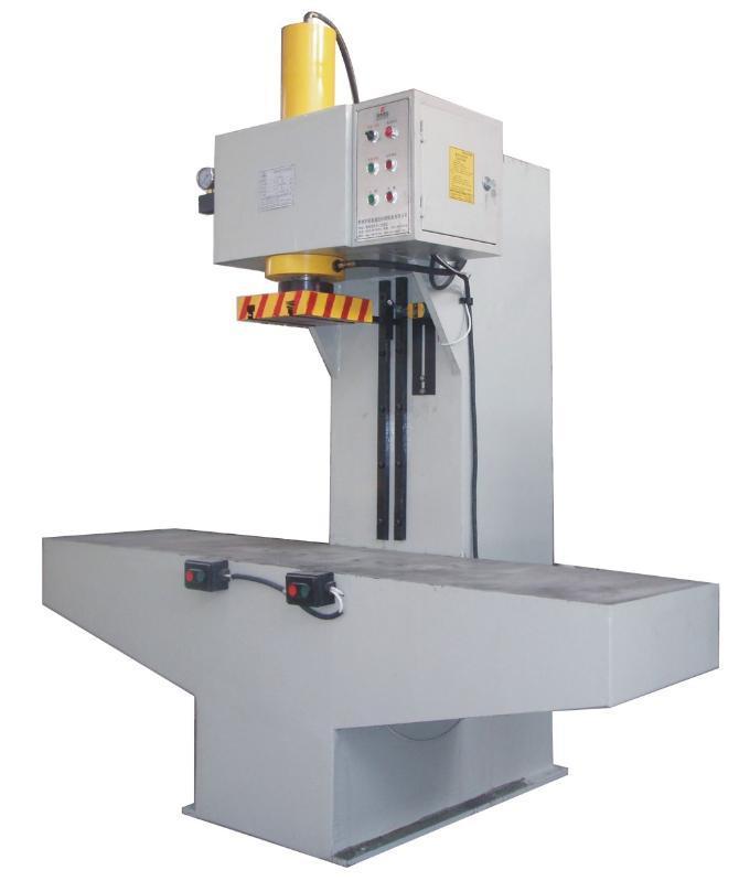 单柱校正压装液压机 (yk41-100t)图片