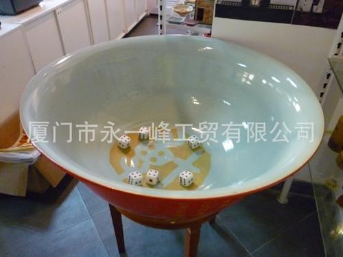 大红釉博饼碗