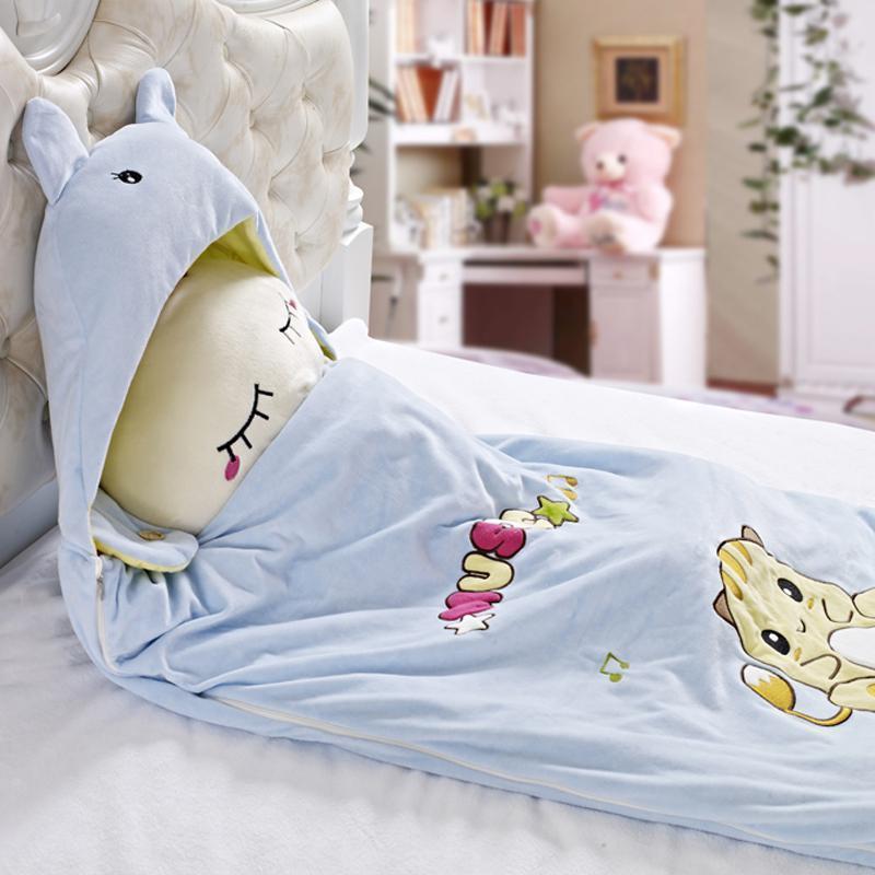 儿童卡通睡袋(100%桑蚕丝)