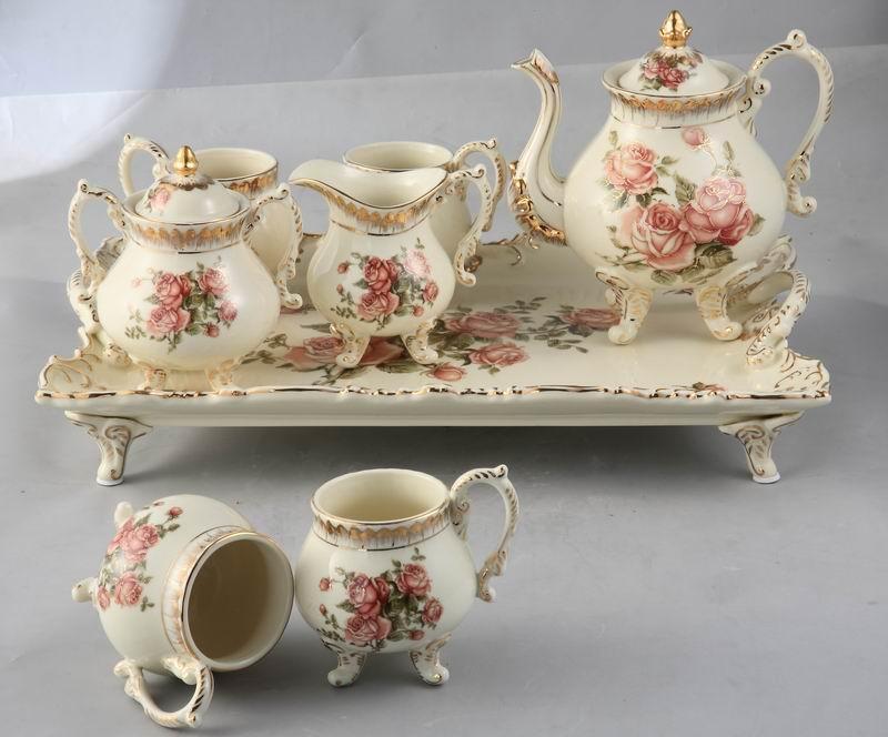 产品目录 轻工日用品 杯具茶具酒具 茶具套装 03 陶瓷欧式茶具图片