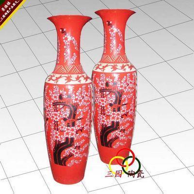 景德镇中国红大花瓶图片,景德镇中国红大花瓶高清图片 景德镇市三园
