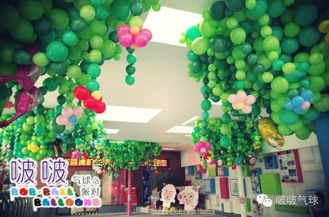 儿童节气球装饰 幼儿园气球装饰图片