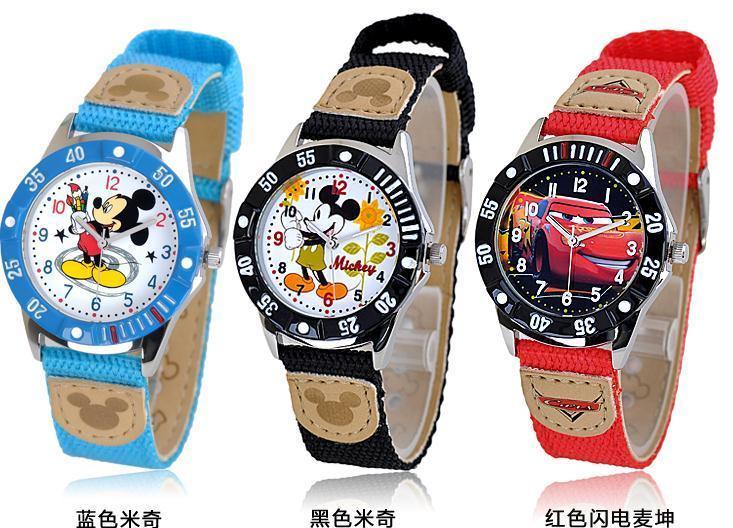 正品迪士尼防水电子儿童手表