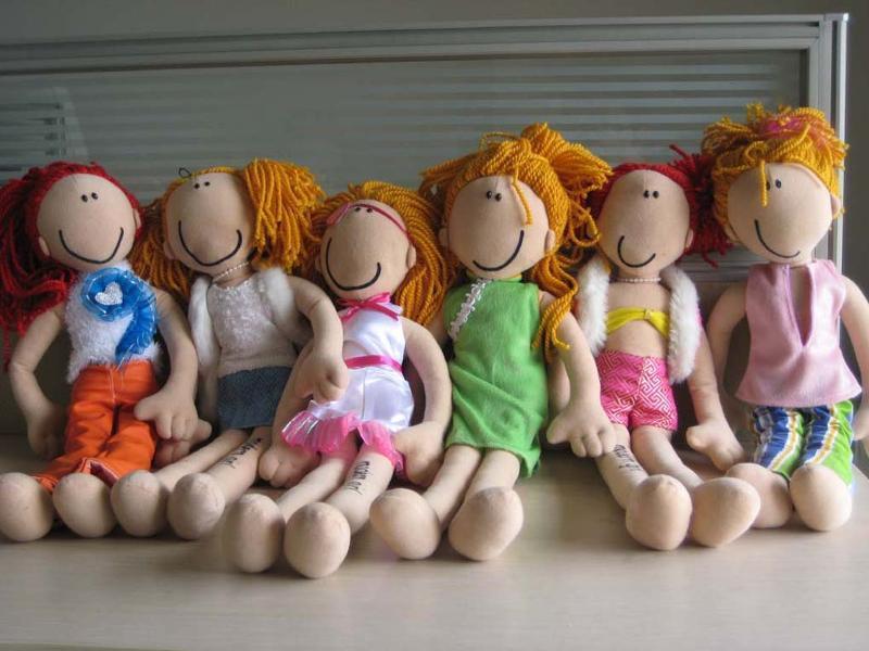时装娃娃组合系列,长纱的头发,织布皮肤,欧美风格造型,适合作