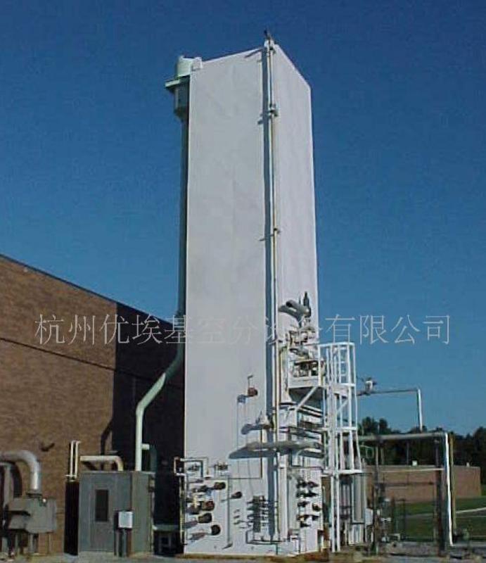 分馏塔,净化后的空气进入分馏塔冷箱中