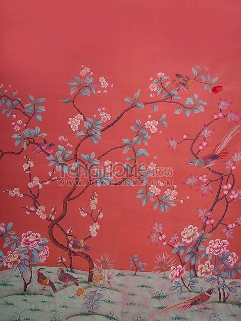 手绘丝绸壁纸(wp-001)