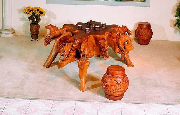 红豆杉根雕茶桌价格 红豆杉根雕价格和图片 红豆杉根雕价格