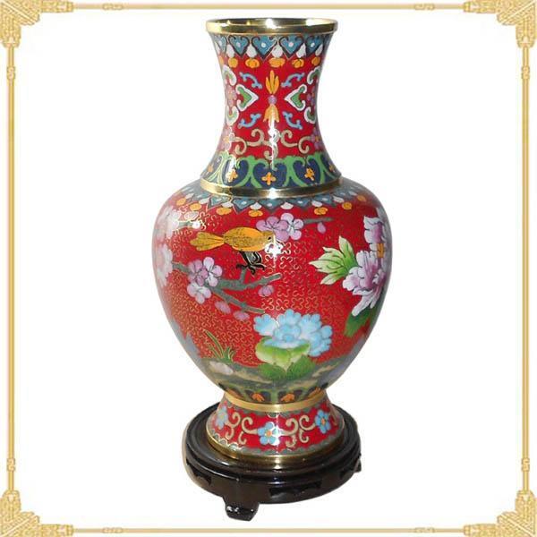 景泰蓝周期磊花瓶批发 中国制造网花瓶