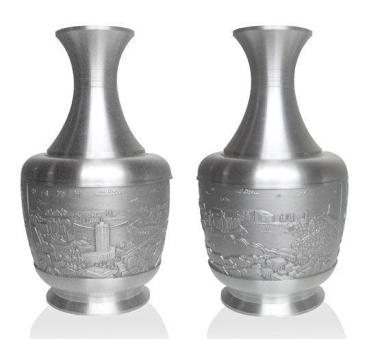 广西柳州企业特色礼品 纯锡花瓶