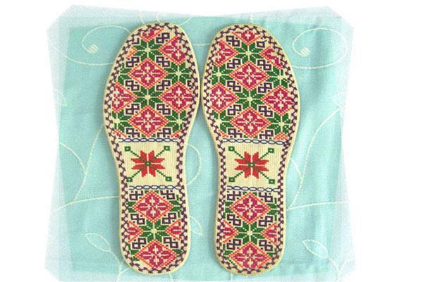 手工鞋垫图案大全图片手工格子鞋垫花样图案手工