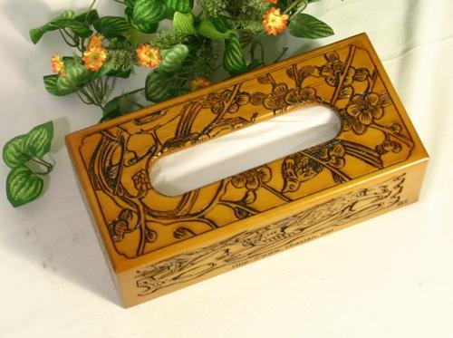 木制纸巾盒图片