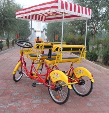观光自行车,双人骑自行车