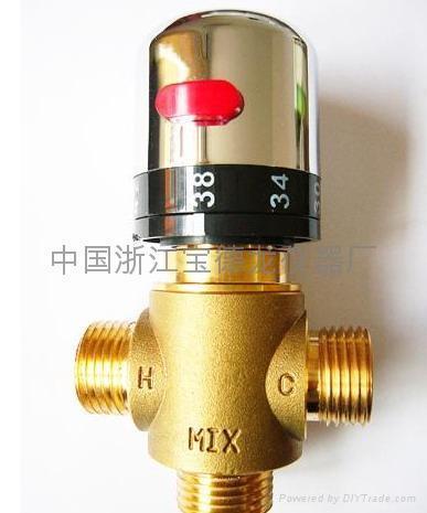 4,如果冷热水进水压力不一致,且没有安装单向止流阀,请注意每次图片