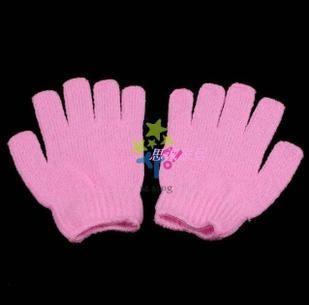 尼龙沐浴五指手套