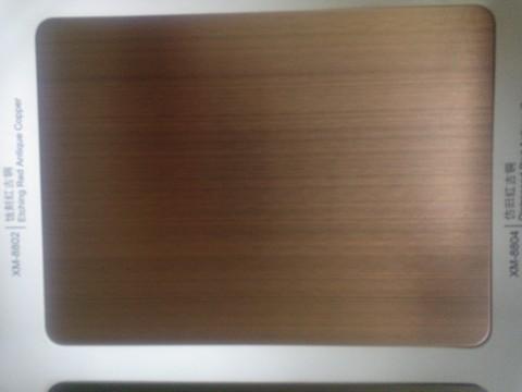 红古铜拉丝不锈钢图片