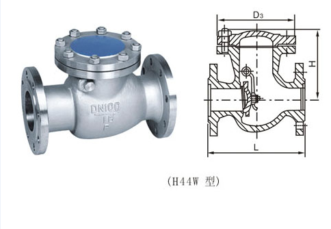 功能: nrvr静音式止回阀 材质: 不锈钢 结构: 旋启式 连接方式: 法兰图片