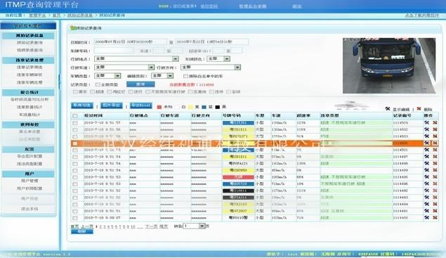 jw-itmp智能交通管理平台软件图片