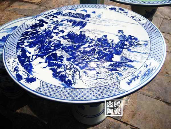 青花瓷瓷桌,礼品装饰品