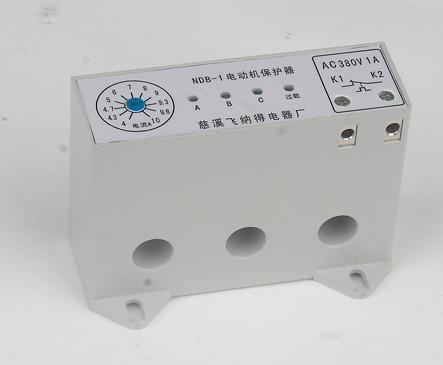 电动机保护器 缺相保护器NDB 1和交流接触器的接线方法图片,电动机图片