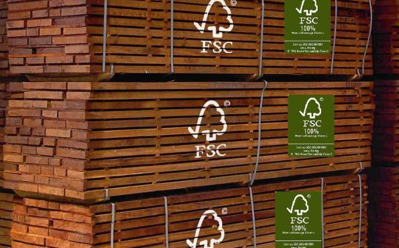 Madera ecológica certificada FSC