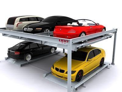 两层升降横移类立体停车设备图片,优泊牌机械式两层升降横移类立