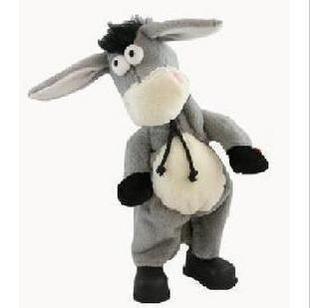 史上最牛的驴子,疯狂跳舞驴,可爱的摇头驴会唱歌,并且双脚图片