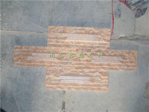 石蘑菇石文化石马赛克条纹砖影视墙台面板材加工图片,河南大理石