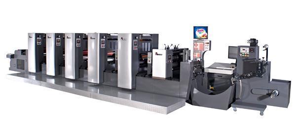 印刷机囹�a_不干胶标签轮转印刷机