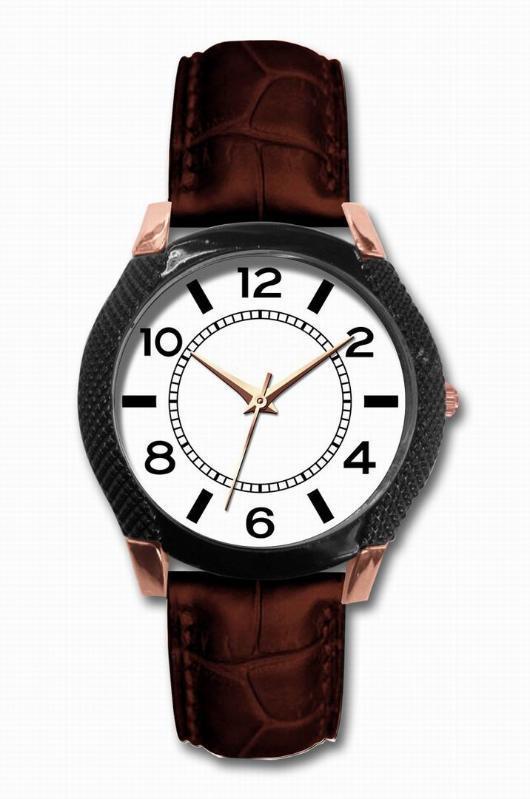 欧美风格真皮男士手表