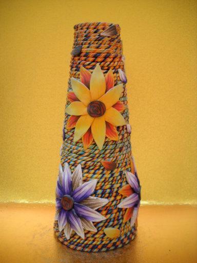 泥塑花瓶作品_软陶泥制作花瓶图片图片_软陶泥制作花瓶图片图片下载
