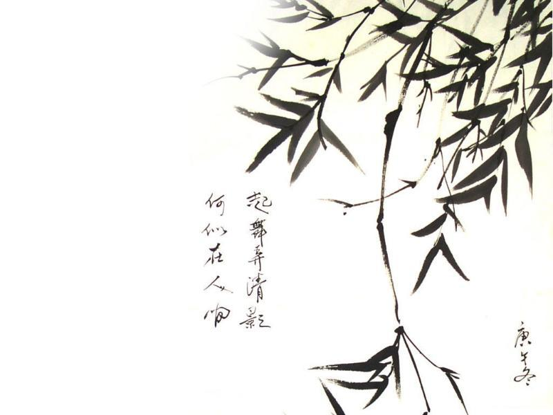 水墨竹子画背景素材 水墨竹子背景素材大图 竹子水墨背景素材高清