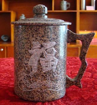 麦饭石杯 大福字图片,麦饭石杯 大福字高清图片 草原蒙古包,中国制
