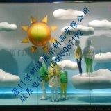 厦门玥诚橱窗装饰道具玻璃钢太阳云朵道具