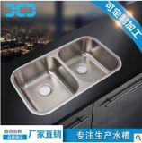 厂家批发304不锈钢水槽双槽 厨房不锈钢洗菜盆洗碗盆一体拉伸8852