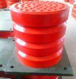 沈阳缓冲器厂家 JHQ-C-7聚氨酯缓冲器价格 125*100 法兰盘式缓冲器