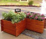 精致户外实木花箱  旅游区木制花箱  园林户外花箱