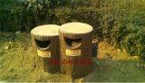 西藏拉萨市  仿木花箱 仿木垃圾箱低价促销