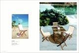 简洁实用的别墅户外实木金丝柚桌椅套件 一桌四椅