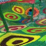 室内儿童攀爬网设备   室内淘气堡彩虹网设备