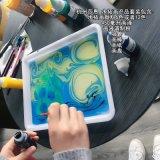 莎恩 幻彩湿拓画 浮水画 水影画 水拓画颜料 水上画画 创意DIY
